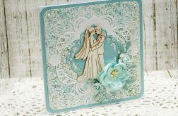 Niepowtarzalna kartka ślubna 01