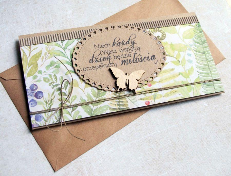 kartka - kopertówka :: leśne życzenia