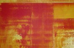 Obraz abstrakcja czerwień&żółty 40x40