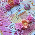 OSIEMNASTKA, kartka dla dziewczyny, urodziny. - super babeczka