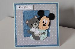 Kartka na roczek Myszka Miki 2
