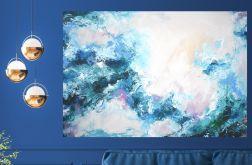 Duży obraz ręcznie malowany 140x90