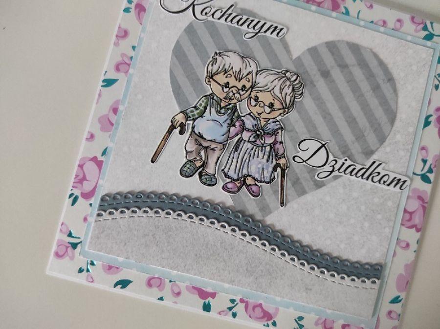Kartka na Dzień Babci i Dziadka serce