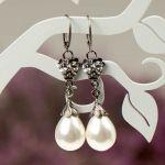 Kolczyki srebrne Emma z perłami Seashell