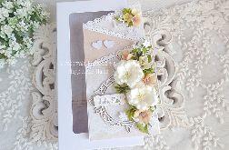 Ślubna kartka kaskadowa w pudełku 336