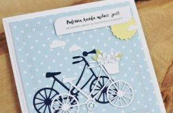 Kartka na ROCZNICĘ ŚLUBU rowery #2