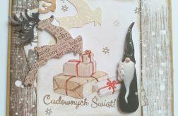 """Kartka świąteczna """"Cudownych świąt"""""""