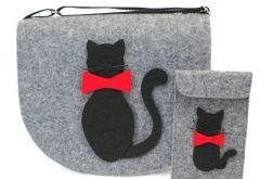 Zestaw torebka z portfelikiem koty z muchą