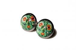 Kolczyki Zielone – Kwiaty Agaty