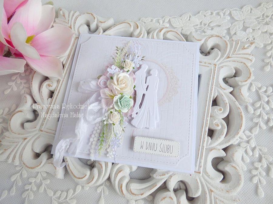 Ślubna kartka  w pudełku 262 -