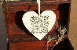 serce drewniane 'jesienna nostalgia