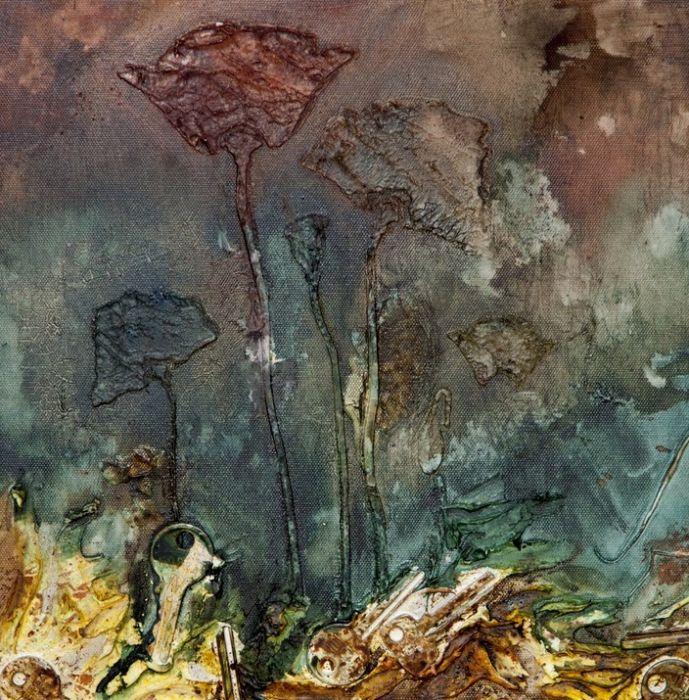 nowoczesny obraz kwiaty