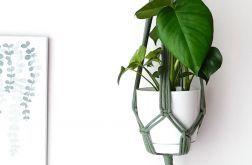 kwietnik makrama, dekoracja na ścianę, boho, skandynawski, prezent