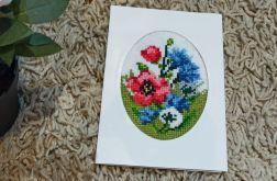Kartka okolicznościowa haft krzyżykowy