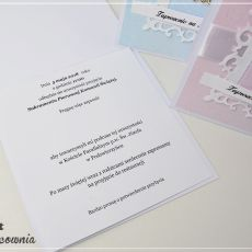 Komunia - zaproszenie ażurowe z hostią