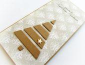 Kartka świąteczna z motywem choinki