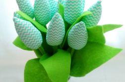 Tulipan 100% bawełna mieta