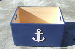 """Pudło na zabawki z kotwicą """"Nautical Style N"""" ŚREDNIA"""