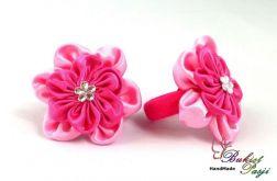Gumki do włosów różowe kwiatuszki