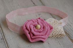 Prowansja w różu - opaska niemowlęca