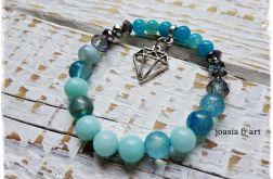 niebieska z diamentem