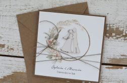 Stylowa kartka na ślub z personalizacją