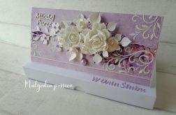 Kartka kopertówka ślubna w pudełku