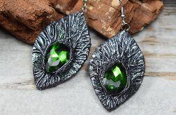 Długie kolczyki Magic Forest -zieleń i srebro