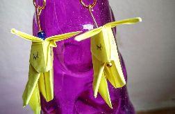 Kolczyki origami króliki jasnożółte