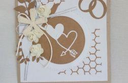 Kartka ślubna - obrączki2