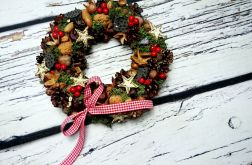 Naturalny wieniec świąteczny stroik