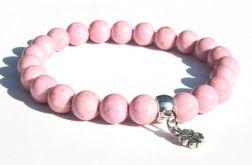 Bransoletka różowy marmur