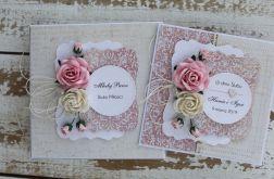 Kwiatowa kartka ślubna z pudełkiem A56