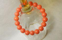 8.Bransoletka ze szklanych koralików 10mm