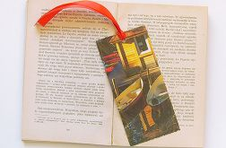 Vintage zakładka do książki łódka  2