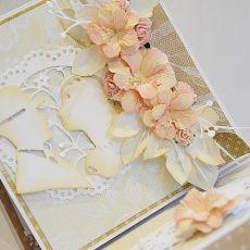 Jesienny ślub - kartka w komplecie z pudełkiem. WZÓR.