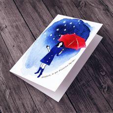 po deszczu TĘCZA... kartka na życzenia