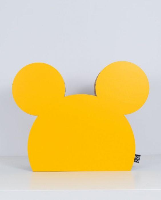 MYSZKA dekoracja ecoono   żółty