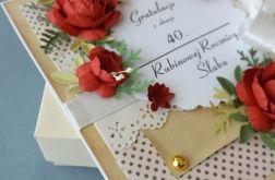 Kartka w pudełku na 40 Rocznicę Ślubu