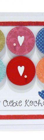 Kartka dla kochanej osoby - serduszka