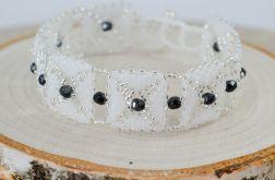 Delikatna bransoletka czarne kryształki