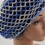 różne kolory - ażurowa letnia czapeczka