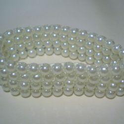 bransoletka  biała perłowa
