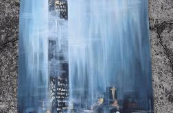 Obraz akryle, Zamglony wieżowiec