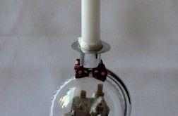 Świecznik z bombką (srebrny)