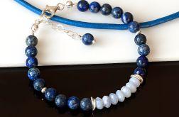 Lapis lazuli z chalcedonem