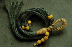 Unikatowy kwietnik makrama juta zielony żółty boho