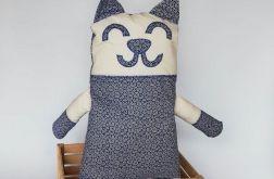 Kot ~ maskotka ~ granatowe rozetki