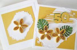 Kartka URODZINOWA żółto-biała