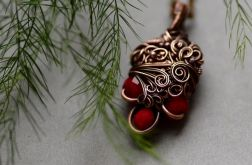 Karo - naszyjnik w czerwieni